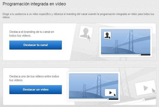 Opciones destacar video en Youtube